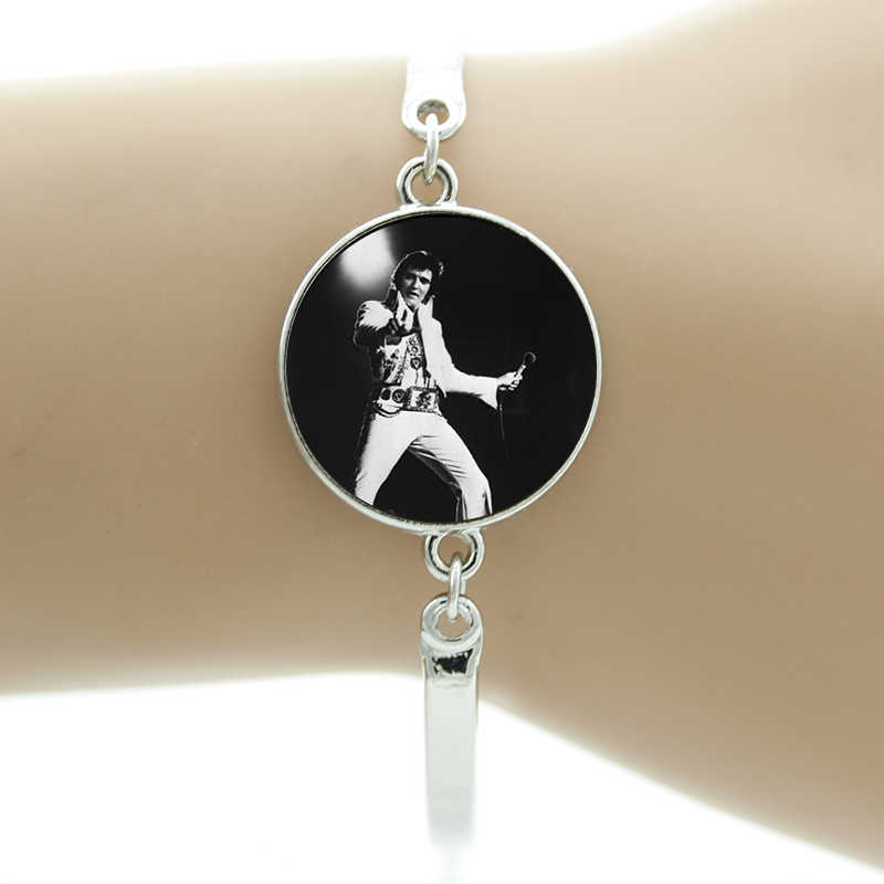 أساور من TAFREE لمغني موسيقى الروك ألفيس بريسلي لمحبي موسيقى الفيس بريسلي مجوهرات رجالية ونسائية NS488