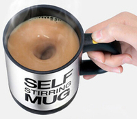 400ML Auto Stirring Mug Electric Coffee Mixing Cup Stainless Steel Drinking Cup Free Shipping