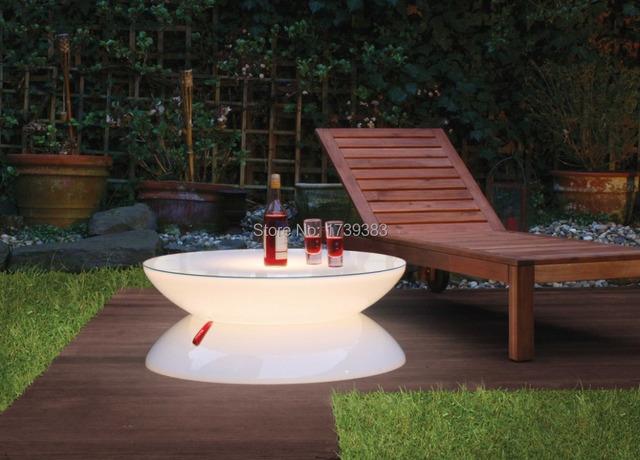 Mobiliário Iluminado Led de luz e Forma em Perfeita Harmonia, Salão de LED, led recarregável mesa para Bares de café/natal/eventos