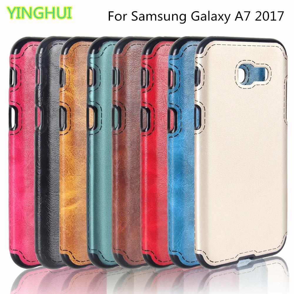 sFür Samsung A7 2017 Soft Silicone Case Luxus Leder Rückseite für - Handy-Zubehör und Ersatzteile