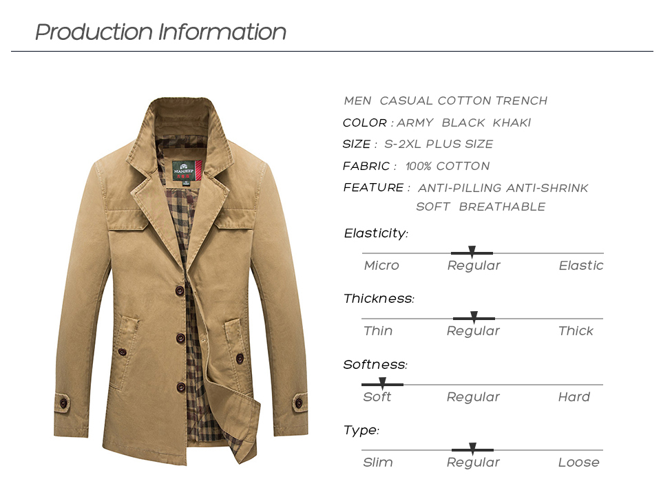 HTB1SWc5USzqK1RjSZFjq6zlCFXah Men's Spring Autumn Business Casual Long Cotton Trench Coat Jacket Men Winter Brand Classic Iconic Trench Breasted Overcoat Men