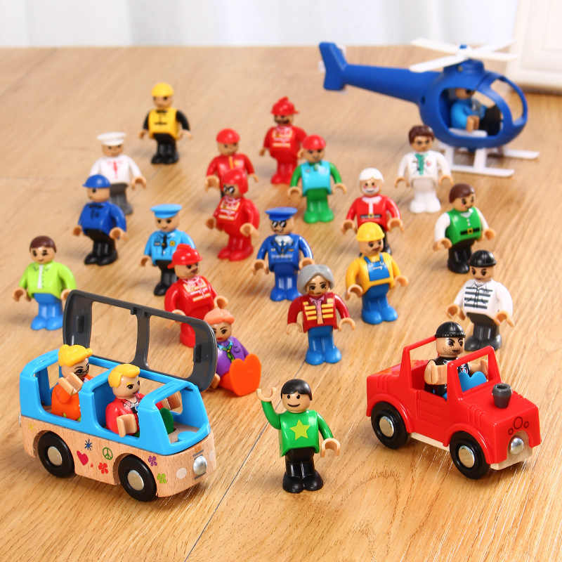 All Kinds of Small Man Doll Model Character Railway Accessories Educational DIY Original Toy Gifts Kids Fit Thomas Tracks EDWONE