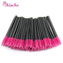 50pcs/pack Makeup Brushes Disposable Eyelash Brush Mascara Wands Applicator Eyelash Comb Individual Lash Make Up Brush Tools Kit цена в Москве и Питере