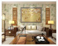 beibehang Neoclassical Chinese Bamboo Wall paper Living Room Bedroom Hotel Exhibition Cultural Center 3d Wallpaper papier peint