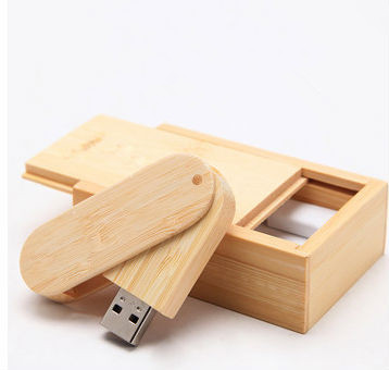 rotating wooden with the box USB 2.0 usb flash drives thumb pendrive u disk usb creativo memory stick 4GB-64GB S219