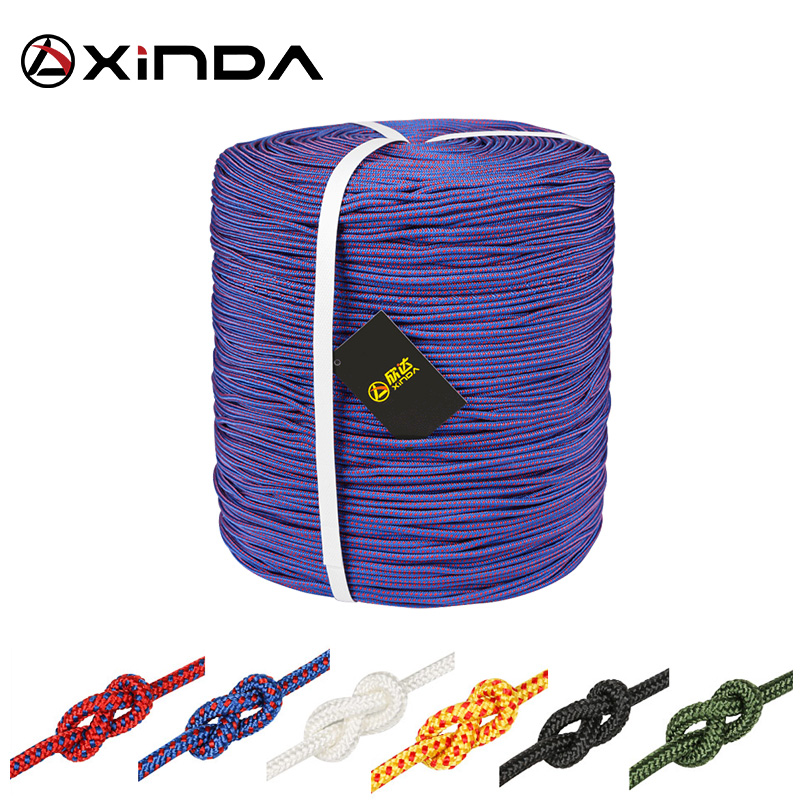 XINDA Escalada Paracord Rock Climbing Rope Accessories Cord 4mm Diameter High Strength Paracord Safety Rope Survival Equipment