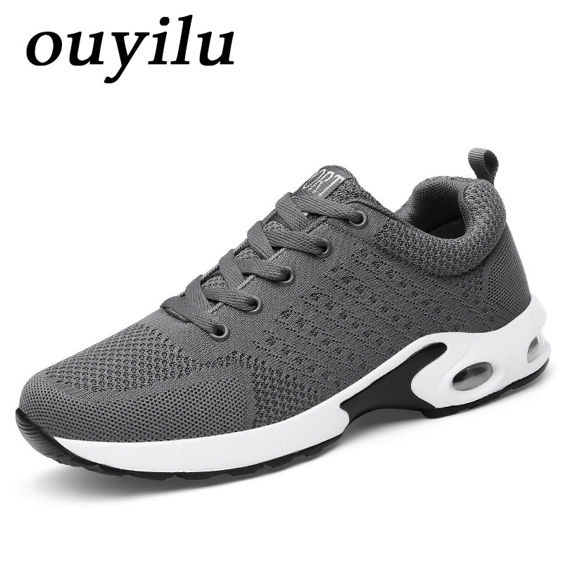 2018 ouyilu Men Running Shoes Sport Shoes Woman Running Shoes Sneakers Comfortably breathable Ladies sneakers shoes Men Sneaker