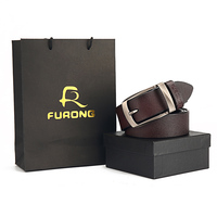 FURONG Designer Mens Belts High Quality Real Cow Genuine Leather Men Belt Luxury Pin Buckle Male Cowhide Belts for Jeans