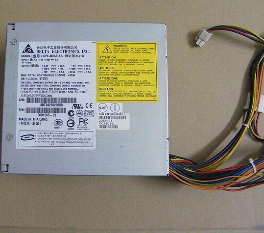 Server Power Supply For  B2500 475W 300-1630-01 300-1565 DPS-465AB-2 A   Original 95%New Well Tested Working One Year Warranty power supply backplane board for dl580g3 dl580g4 376476 001 411795 001 original 95% new well tested working one year warranty