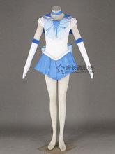 Anime sailor moon sailor mercury mizuno ami japonés uniforme cosplay traje de halloween dress + collar + bowknot + guantes + head band