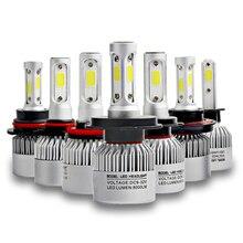 HAMRVL S2 светодио дный 10000LM/комплект фар автомобиля H1 H3 H4 H7 H11 H13 H27 9004 HB3 9006 HB4 9007 HB5 лампа с 3 стороны автомобиля туман лампы