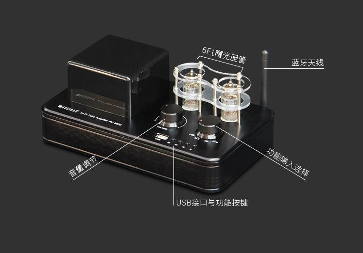HI-FI 6F1 Tube Amplifier Bluetooth 4.0 Mini Power Amp U Disk Lossless DecodingHI-FI 6F1 Tube Amplifier Bluetooth 4.0 Mini Power Amp U Disk Lossless Decoding