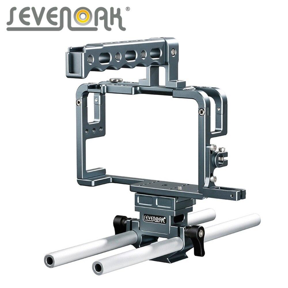 Sevenoak Cage de caméra en aluminium SK-GHC20 avec poignée supérieure et support de chaussure tiges de 15mm pour appareil photo Panasonic Lumix DMC-GH3, GH4