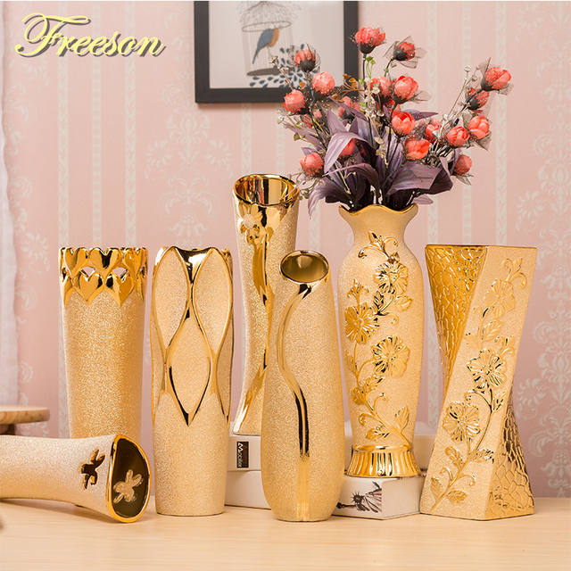 Aliexpress Buy Europe Handpainted Gold Plated Porcelain Vase