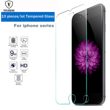 10 pcs HD Clear Screen Protector for iphone 7 plus Tempered Glass Explosion protection film for iPhone x 5 5s se 7 6 6s 8 plus