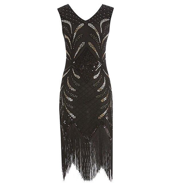 HxroolrpWomen 1920s Flapper Dress Gatsby Vintage Plus Size Roaring ...