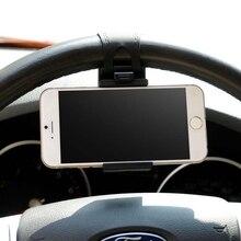 Car Phone Holder Mounted on Steering Wheel Cradle Smart Mobi