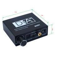 Digitale Audio Analoog HiFi Hoofdtelefoon Versterker Met Toslink om coaxiale Converter 2 RCA 3.5mm Jack Stereo Audio Adapter ONS Plug