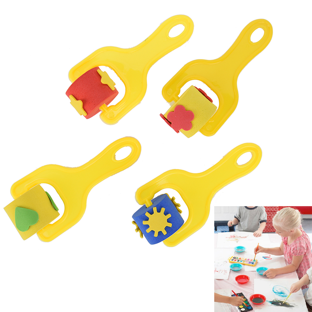 Paintbrush EVA Nursery Art Craft Paint Random Color Children Painting Graffiti Sponge Roller Brusher For Kid Drawing Supplies