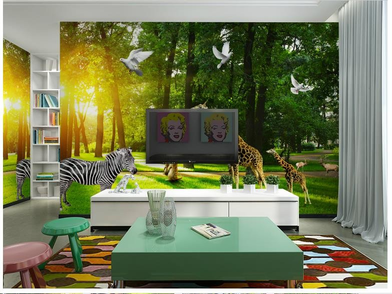 3d Photo Wallpaper Custom 3d Murals Wallpaper Mural Animals Wall The Wizard Of Oz Forest Background Of The Animal Kingdom Wall