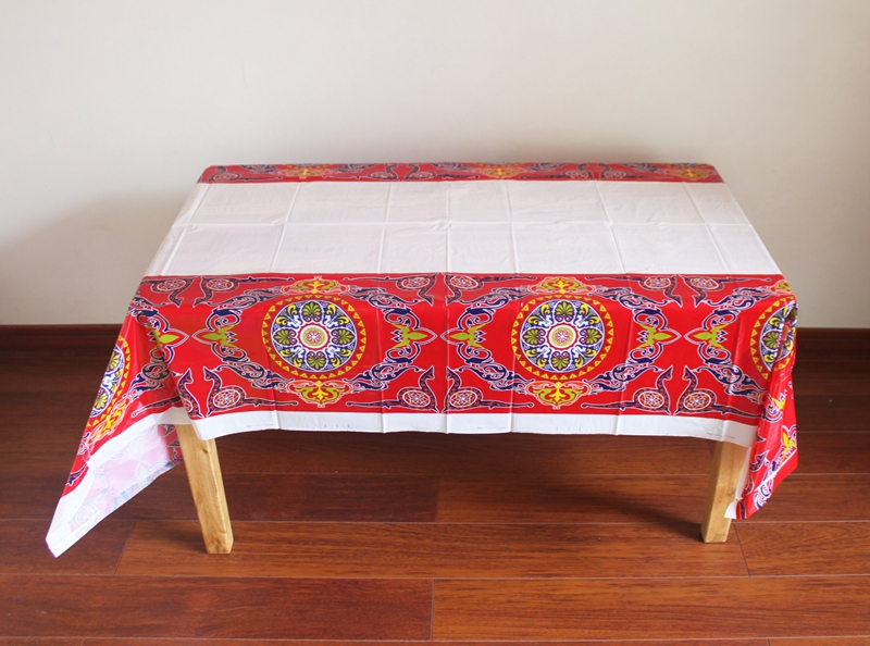 Plastic Table Cloths Eid al-Fitr Mubarak Ramadan Table Cover Tablecloth Waterproof For Moslem Islamism Decoration 180*108cm