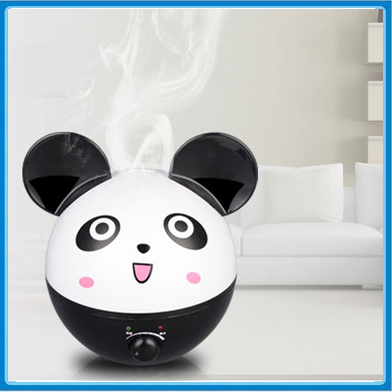 2L Panda Shape Ultrasonic Air Humidifier Essential Oil Aroma Diffuser For Home Office 220V Mist Maker Fogger