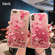 Glitter Cair Pink Pasir Isap Case untuk Samsung Galaxy A30 A50 A40 A70 M10 M20 S10 S10E A7 A6 A8 S8 s9 Plus J6 J4 Plus 2018 Cover(China)