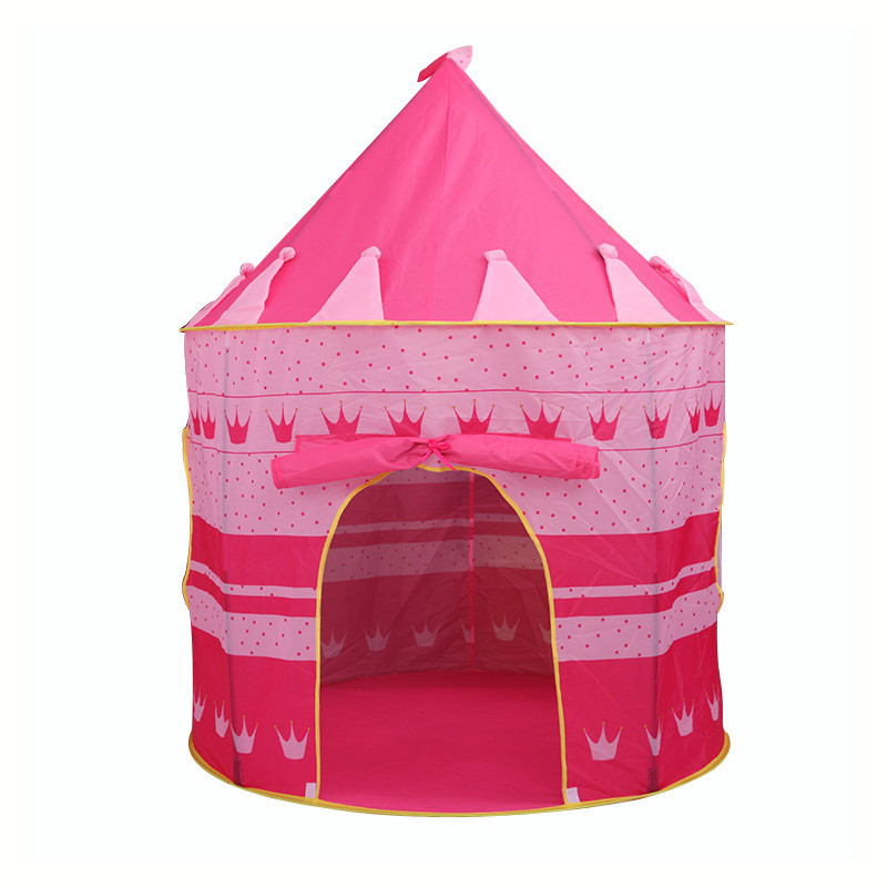 2 Colors Play Tent Portable Foldable Tipi Prince Folding Tent Children Boy Castle Cubby Play House Kids Gifts Outdoor Toy Tents2 Colors Play Tent Portable Foldable Tipi Prince Folding Tent Children Boy Castle Cubby Play House Kids Gifts Outdoor Toy Tents