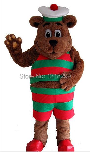 Mascotte de foie de morue ours costume de mascotte fantaisie robe personnalisé fantaisie costume cosplay thème mascotte carnaval