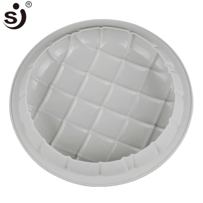 Funbaky большая круглая силиконовая форма квадратная Подушка серый торт плесень для шоколада десерт брауни форма для муссовых тортов кекса украшения инструменты