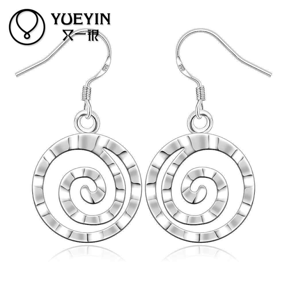 New supplies dangle earrings Round thread shape silver plated earrings fashion silver-plated Jewelry high quality E353