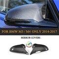 DRY Carbon Fiber Rückspiegel Abdeckungen Hinzufügen Auf Für BMW F80 M3 F82 F83 M4 Limousine 4 Tür Coupe cabrio 2 Tür Nur 14-19