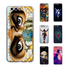 mj dangerous eyes Musical Style Thin transparent phone Cover Case for Huawei P10 P10lite P8 P9 lite Mate8 Mate9