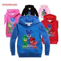 VEVEFHAUNG Children Spring Autumn Boys Clothing PJ MASKS Cosplay Long Sleeve T Shirts PJMASKS Hoody Hoodies