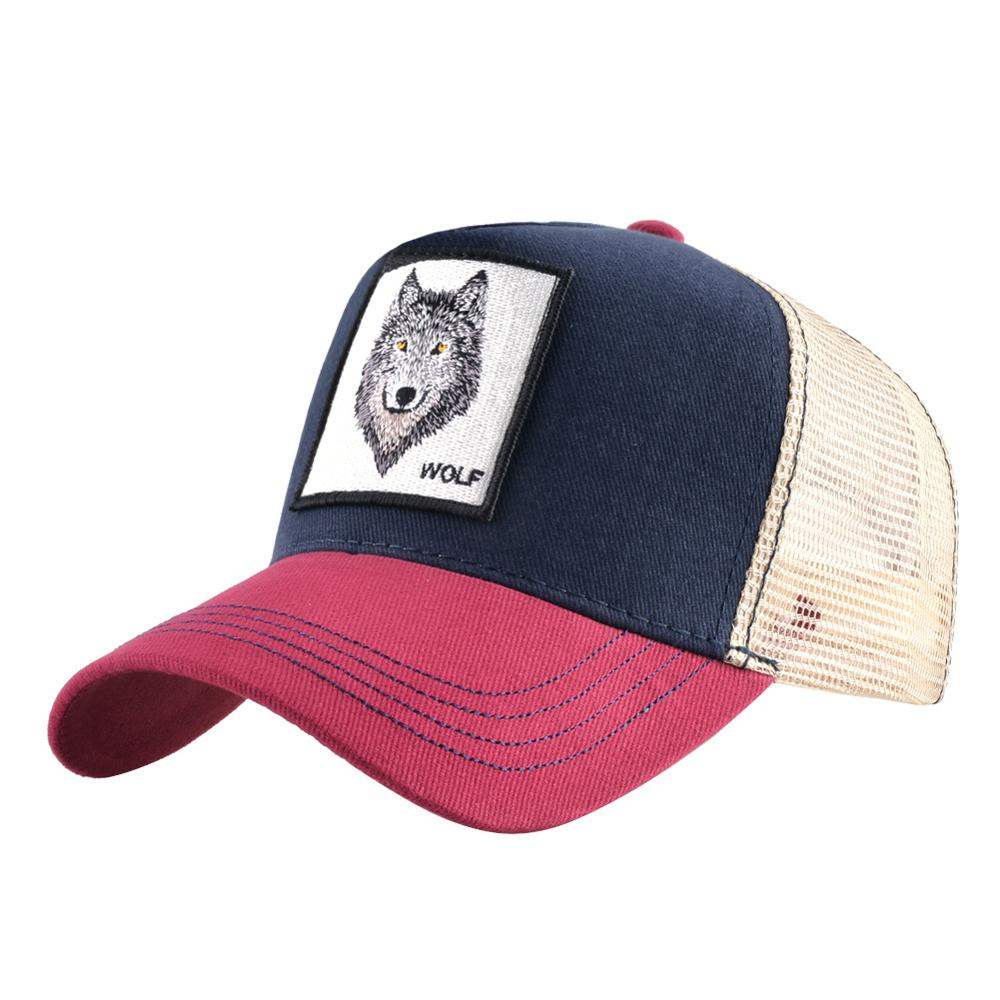 Wholesale 2019 new Animals Embroidery   Baseball     Caps   Men Women Russian Snapback Hip Hop Hat Russian Sun Gorras Unisex Wolf   cap