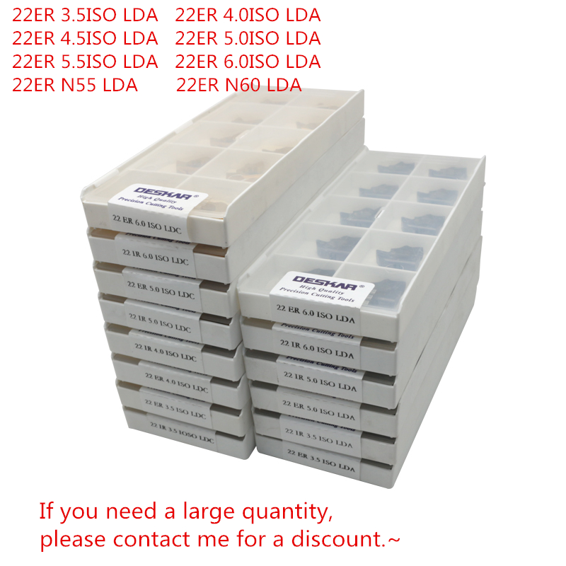 DESKAR 22ER 3.5ISO/4.0ISO/4.5ISO/5.0ISO/5.5ISO/6.0ISO LDA/22ER N55/N60 LDA For Stainless Steel Metric System Threaded Inserts
