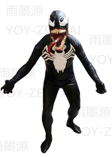 MovieCoser Best Quality Venom Cosplay Costume Venom Spiderman Spandex Costume Venom Black Spiderman Suit