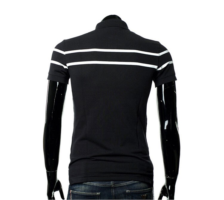 Polo Men Fashion Casual Classic Striped Golf Polo Shirt Slim Fit Summer Cotton Short Sleeve Tee Camisa Polos Homme Plus Size 3XL (9)
