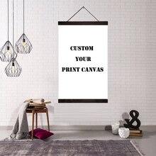 مخصص طباعة قماش ملصق فني خشب متين معلقة رمح التمرير اللوحة دروبشيبينغ