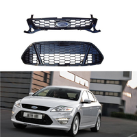 1 Set Honeycomb front bumper radiator grill grille upper and lower kits for Ford Mondeo 2011 2012
