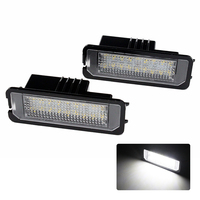 2x Car LED License Plate Light No Error For Porsche Cayenne Carrera Boxster Cayman 911 Turbo