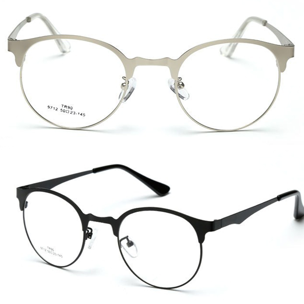 Retro Round Browline Eyeglasses Ultra Thin GLASSES...