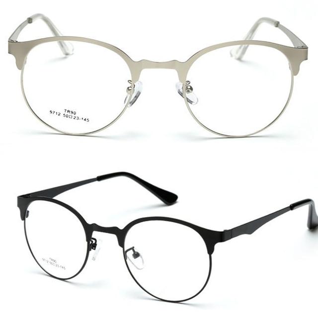 Ronda retro browline gafas marco ultra delgado por encargo ...