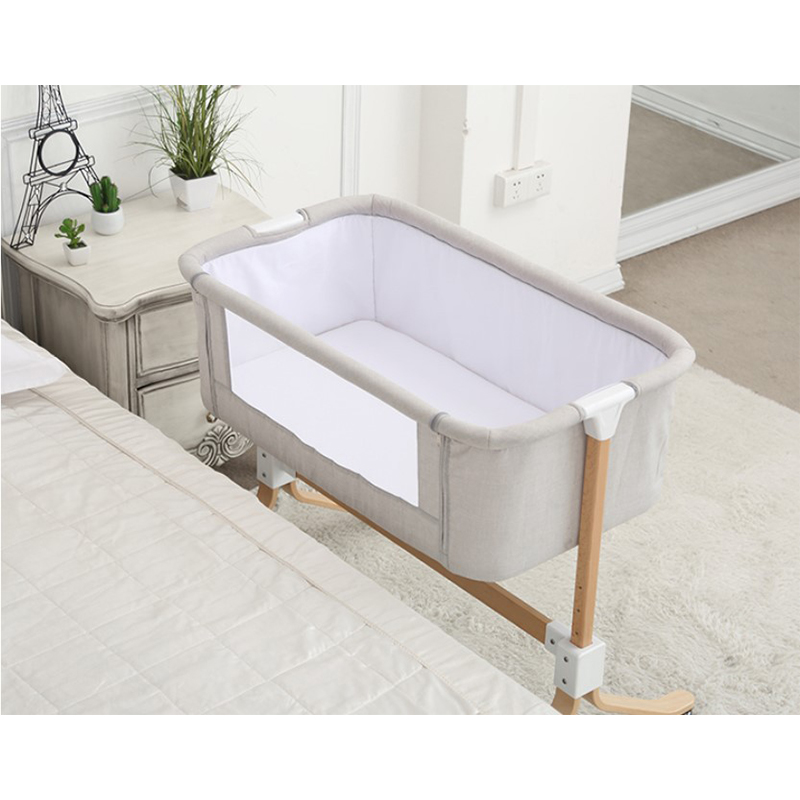 European style Baby bed multifunctional newborn solid wood bedside crib portable Splicable
