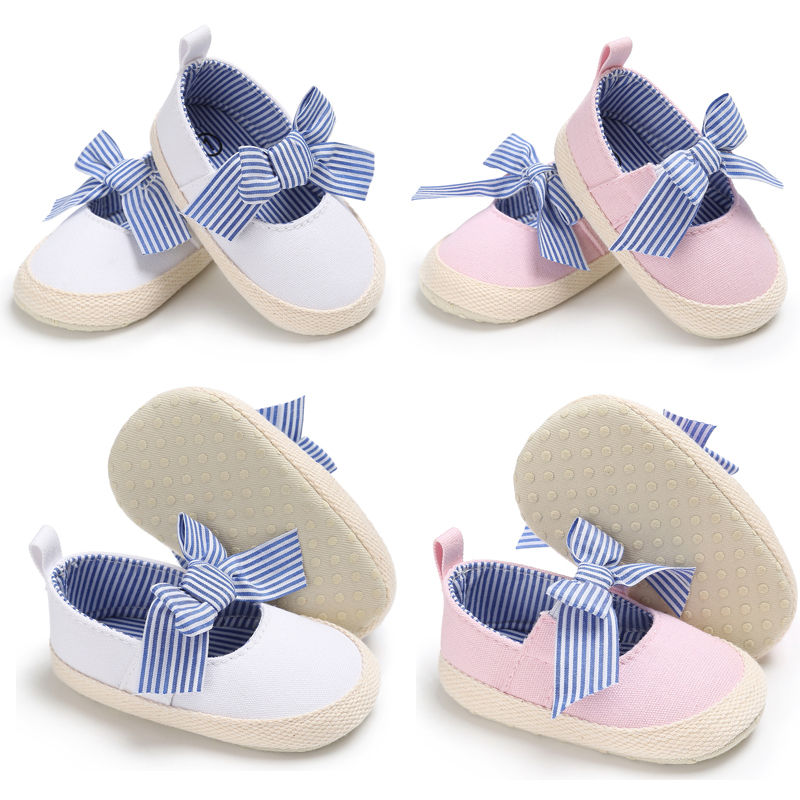 Super Cute Cotton Bowknot Baby Shoes Toddler Baby Girl Crib Shoes Newborn Prewalker Non-slip Kids Soft Sole france tigergrip waterproof work safety shoes woman and man soft sole rubber kitchen sea food shop non slip chef shoes cover