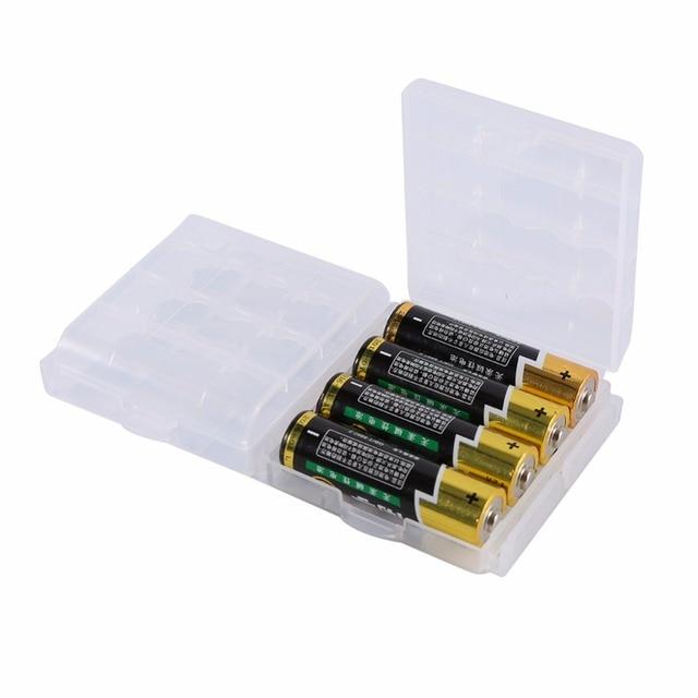 10 Pcs/lot AAA Battery Holder Multifunctional Transparent Hard Plastic Case  Holder Storage Box For