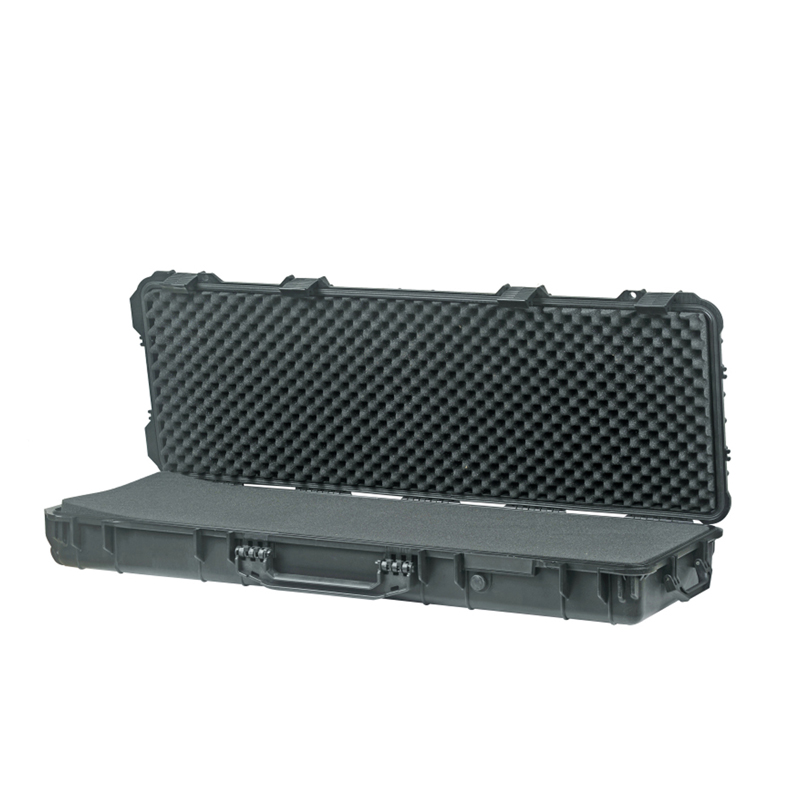 Long Size 1066*343*133mm Waterproof Outdoor Plastic Gun Case With Uncut Foam Inside