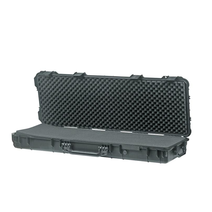 Long size 1066*343*133mm waterproof outdoor plastic gun case with uncut foam inside high quality shipping case with full foam inside