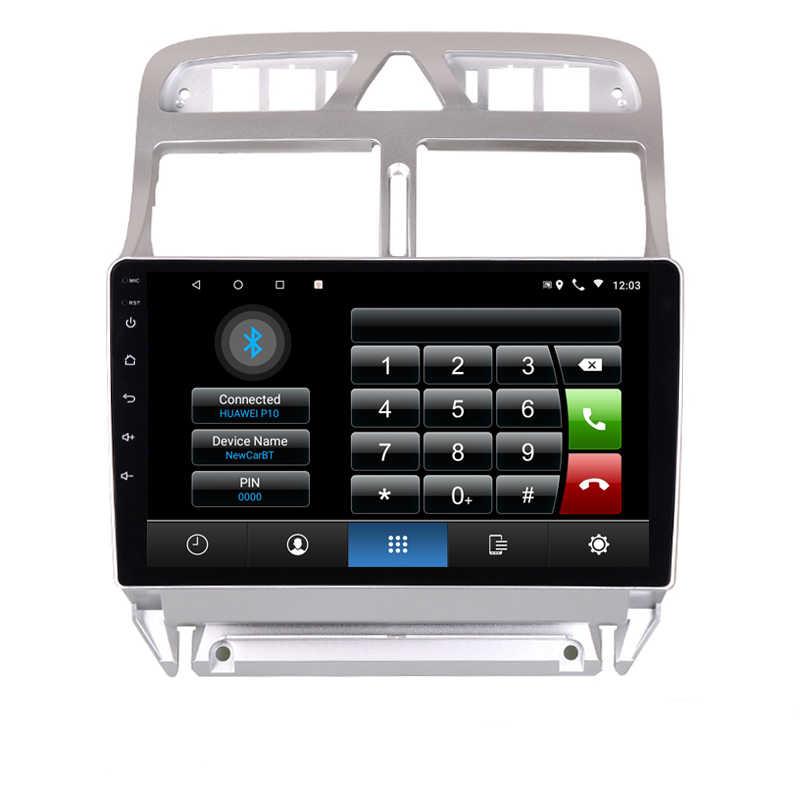 """9 """"4 グラム RAM 8 コア Android のカー Dvd Gps ナビゲーションのためのプジョー 307 2002 2010 2012 2013 へオーディオステレオカーラジオヘッドユニット wifi"""