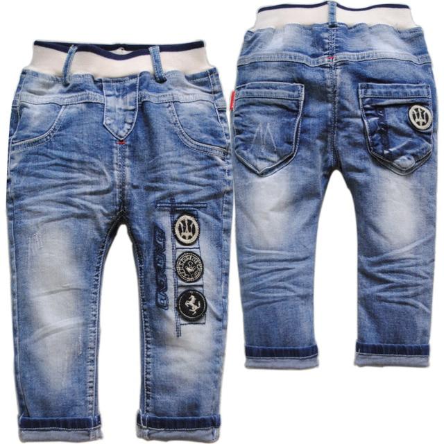 3939 МОДЫ детские брюки мальчик джинсы девушки весна осень мягкая детские джинсовые брюки синий очень хороший новый 2016